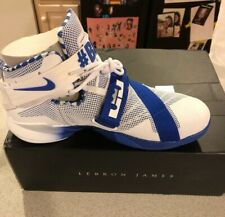 reputable site 266ce c2bcd SZ 12 Nike Lebron Zoom Soldier IX Premium Kentucky Wildcats 749490-104 BBN  Shoes