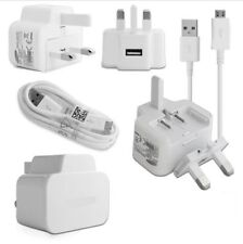 New UK Mains Charger USB Plug +Data Sync Cable for Samsung Galaxy S4 S5 S6 S7