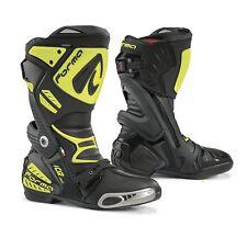 FORMA  Bottes Moto Ice Pro Homologuée CE, Noir/Yellow Fluo, Taille 45 *NEUF*