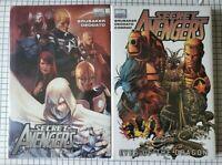2 GN lot: Secret Avengers Vol 1, 2 Hardcover Sealed (Marvel) Brubaker ~ Deodato