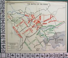 WW2 MAP THE BATTLE OF THE RHINE SECOND BRITISH ARMY - NINTH - REICHSWALD FOREST