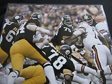 Steel Curtain Holmes White Greenwood Greene Pittsburgh Steelers Signed 16x20 PSA
