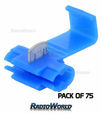75x Blue Scotch Lock Wire Connectors Quick Splice Terminals Crimp Electrical 12V