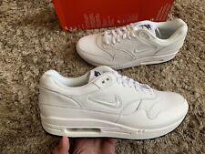 Nike Air Max 1 Premium SC Jewel Swoosh Triple White Diamond Size Uk 11 Eu 46 🔥