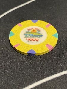 $1000 Las Vegas Dunes Baccarat Oversized Casino Chip - UNCIRCULATED Very Rare