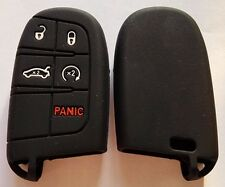 BLACK SILICONE KEY COVER for JEEP DODGE CHRYSLER 300C CHARGER GRAND CHEROKEE
