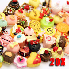 20 Pcs Multicolor Mixed lot Food Resin Flatback Kawaii Cabochons Decoden Pieces