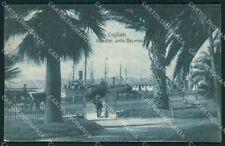 Cagliari Città Nave cartolina QT0450