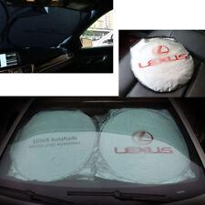 Front Rear Car Window Foldable Sun Shade Shield Cover Visor UV Block For Lexus