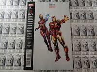 Generations Iron Man and Ironheart (2017) Marvel - #1, Variant CVR, Bendis, NM/-