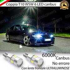 COPPIA LUCI DI POSIZIONE 6 LED T10 CANBUS 6000K BMW SERIE 3 E46 ULTRALIMINOSI