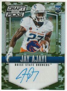 Jay Ajayi Boise State Broncos 2015 Panini Prizm Draft Picks Camo AUTO RC /199