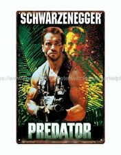 Schwarzenegger Predator sci fi movie metal tin sign wall art online