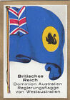 DRAPEAU British Empire britannique West Australia Dominion FLAG CARD 30s