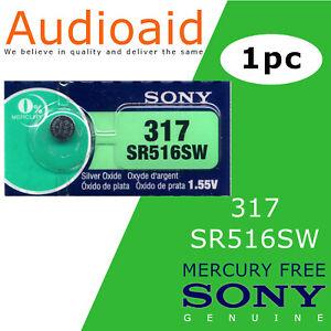 1pc Sony 100% Original 317 SR516SW 516 1.55V Battery - Made in Japan EX: 2023