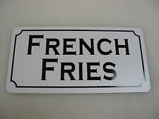 """FRENCH FRIES Metal Signs 6""""x12"""" Food & Beverage Retro Vintage Design Concession"""