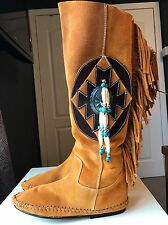 Chicas Boots Leather Ladies Women Knee High Heel Shoe Slouch Boot Size 4 37