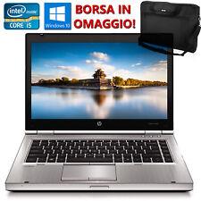 """PC PORTATILE NOTEBOOK 14"""" RICONDIZIONATO HP 8460P CORE i5 RAM 4GB 320GB WIN 10"""