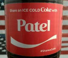 Share A Coke With Patel 2017 Limited Edition Coca Cola Bottle