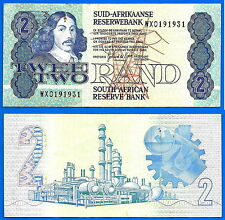 South Africa 2 Rand 1983 1989  in Afrikaans Sign 6 De Kock Replacement Note WX