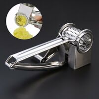 Stainless Steel Rotary Cheese Grater Chocolate Slicer Baking Kitchen Silver