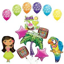 The Ultimate Luau Parrot and Hula Girl Party Supplies and Balloon Decorations