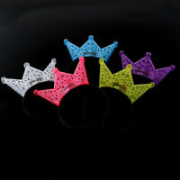 Colorful Princess Crown LED Flashing Headband Kids Adults hair Accessor Px