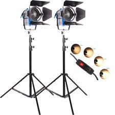 KIT 2 × 1000 W illuminazione Fresnel Tungsteno SPOT FOCUS Studio Luce video + LAMPADINA + barndo
