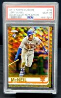 2019 Topps Chrome GOLD WAVE REFRACTOR Mets JEFF McNEIL RC Card /50 PSA 10 Pop 4