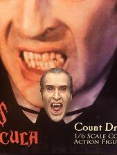 """Estrella del Conde Drácula Ace las cicatrices 12"""" gritando cabeza esculpida Suelto Escala 1/6th"""