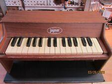 Vintage Jaymar Childs Wood Toy Piano 25 Keys Table Top -All keys work!