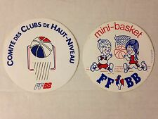 LOT 2 STICKER VINTAGE BASKETBALL SPECIAL FFBB