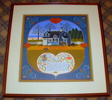 """Charles Wysocki """"Sweetheart Chessmate"""" Framed and Matted Signed Lithograph"""