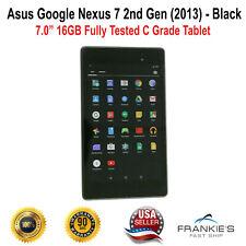 C Grade Asus Google Nexus 7 2nd Gen 2013 WiFi Black 16 GB Fully Tested Tablet