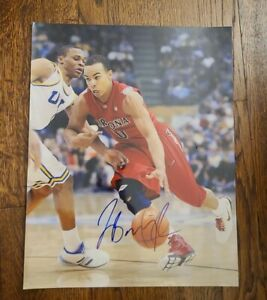 JERRYD BAYLESS SIGNED 11X14 PHOTO ARIZONA WILDCATS TWOLVES NBA WCOA+PROOF RARE