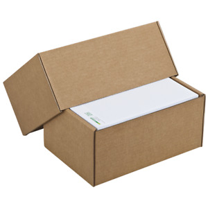 Boxes Carton Packing Lid Telescopic Light Brown 22 x 12 x H 5 A 9