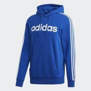 adidas Men's Essentials 3-Stripes Pullover Sweatshirt Fleece Hoodie GD5376