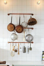 3pcs Rustic Industrial Pipe Kitchen Garden Garage Pot Racks With S Hooks WR015