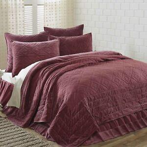 VHC Brands Farmhouse Queen Quilt Purple Patchwork Eleanor Mauve Bedroom Decor