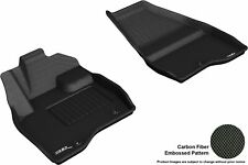 For 2017-2018 FORD EXPLORER KAGU Carbon Pattern BLACK All Weather Floor Mat