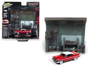 Johnny Lightning 1:64 CHRISTINE 1958 Plymouth Fury & Garage Resin Facade JLSP032