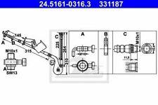 Flexible de frein CITROËN C6 (TD_) C6  (TD_), PEUGEOT 407 (6D_) 407  (6D_) 407 C