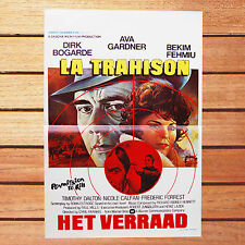 AVA GARDNER DIRK BOGARDE AFFICHE 35X55 TRAHISON HET VERRAAD PERMISSION TO KILL