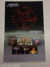 """Anthrax Anthems Music Poster 6 Covers Poster 11""""X17"""" Promo Poster"""
