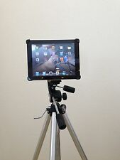Ipad Tripod Mount for Ipad 2  3 & 4 Teleprompter stand  Clamp included Black