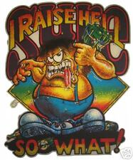 VINTAGE 70's RAISE HELL SO WHAT! T-SHIRT TRANSFER