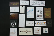 500 Fully custom single page printed Clothing or Gift hang tags support QR code