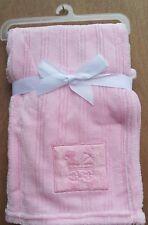 Baby Blanket 75 X 100cm Cute Velvety Shine Luxury Soft 0m First Steps Fs447 Blue