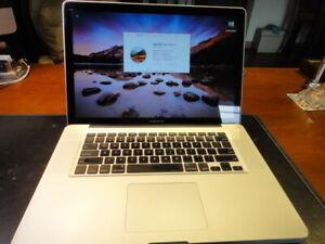 "MacBook Pro 15"" 2.0 - 2.9GHz i7 processor 8GB RAM 500GB ADATA SSD"