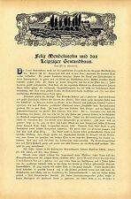 Wilh. Kleefeld Felix Mendelsohn und das Leipziger Gewandhaus Standbild vo...1909